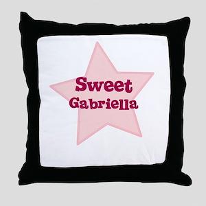 Sweet Gabriella Throw Pillow