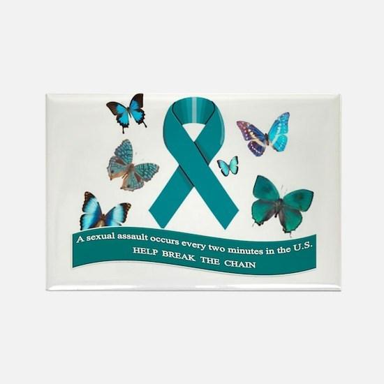 Unique Sexual assault awareness month Rectangle Magnet