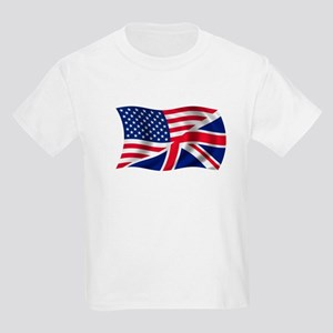 US UK Flag Kids Light T-Shirt