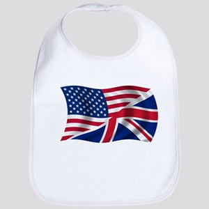 US UK Flag Bib