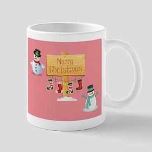 MERRY CHRISTMAS SNOWMEN Mugs
