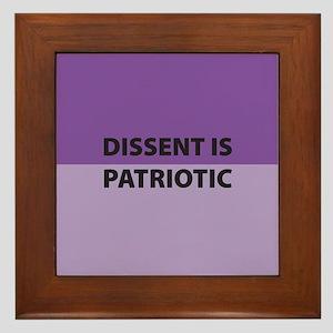 Dissent Framed Tile