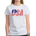 Stars and Stripes USA Women's T-Shirt