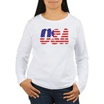 Stars and Stripes USA Women's Long Sleeve T-Shirt