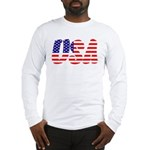 Stars and Stripes USA Long Sleeve T-Shirt