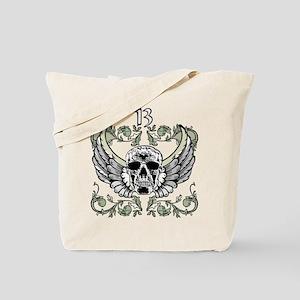 13 Hour Skull Clock Tote Bag