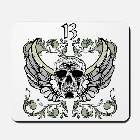 13 Hour Skull Clock Mousepad