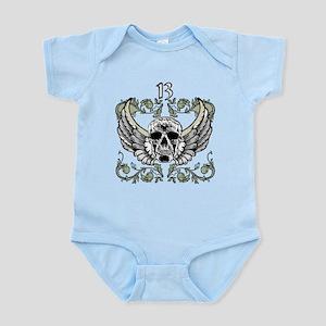 13 Hour Skull Clock Infant Bodysuit