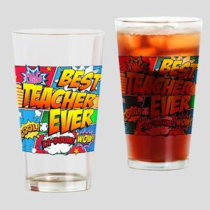 Best Teacher Ever Drinking Glass