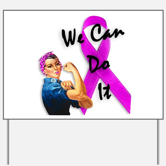 Breast Cancer Awareness, Rosie the Riveter Yard Si