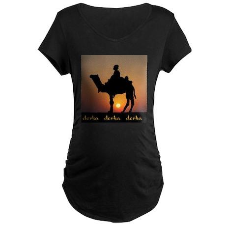 DERKA DERKA DERKA Maternity Dark T-Shirt
