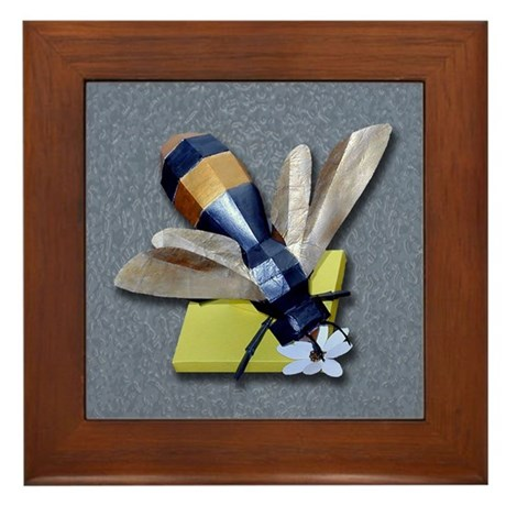 Bumble Bee Framed Tile
