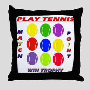 Play Tennis Throw Pillow