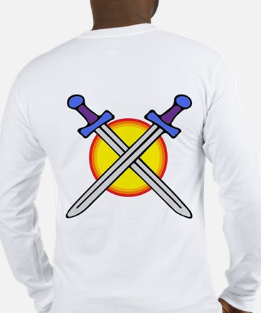 Knight Shield & Swords Long Sleeve T-Shirt