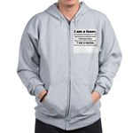 I am a loser - black and whit Zip Hoodie