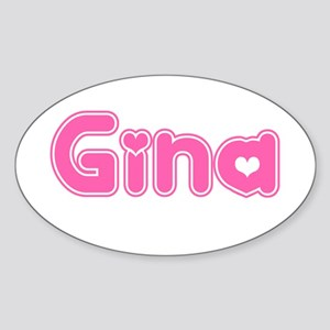 """Gina"" Oval Sticker"