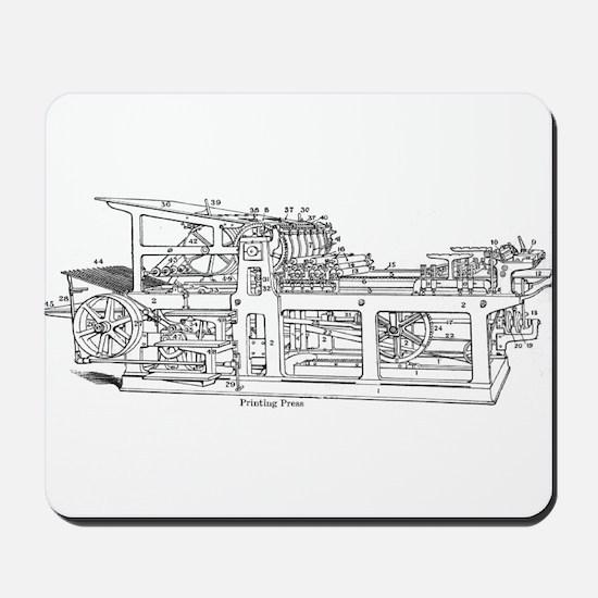 printing press Mousepad
