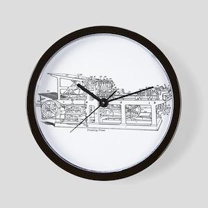 printing press Wall Clock