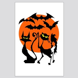 Halloween Bats N Cats Large Poster