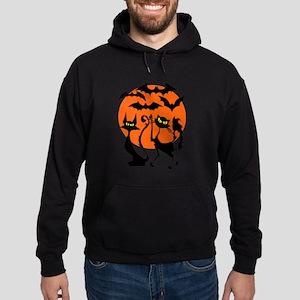 Halloween Bats N Cats Hoodie (dark)
