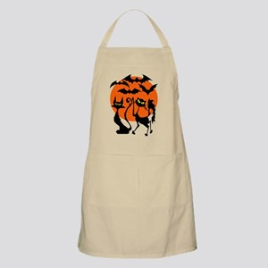 Halloween Bats N Cats BBQ Apron