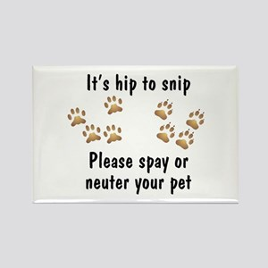 Hip To Snip Rectangle Magnet (10 pack)
