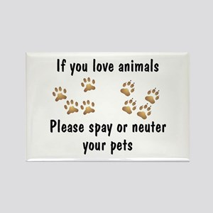 Love Animals Rectangle Magnet (10 pack)