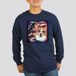Pembroke Welsh Corgi USA Long Sleeve Dark T-Shirt