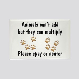 Animals Can't Add Rectangle Magnet (10 pack)