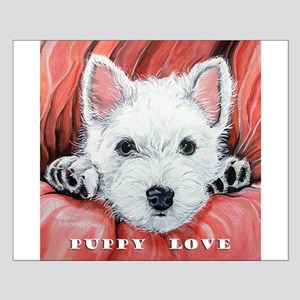 Westie Puppy Love Small Poster