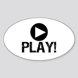 Play Oval Sticker