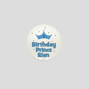 1st Birthday Prince Rian! Mini Button