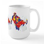 ARTSY SNOWMOBILER Large Mug