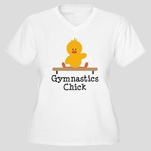 Gymnastics Chick Women's Plus Size V-Neck T-Shirt