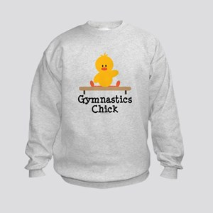 Gymnastics Chick Kids Sweatshirt