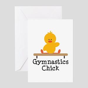 Gymnastics Chick Greeting Card