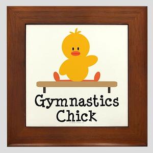 Gymnastics Chick Framed Tile