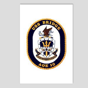 USS Bridge AOE 10 US Navy Ship Postcards (Package