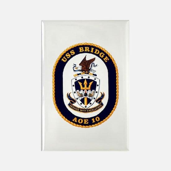 USS Bridge AOE 10 US Navy Ship Rectangle Magnet
