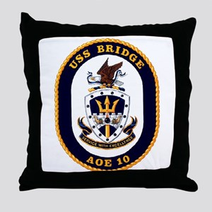 USS Bridge AOE 10 US Navy Ship Throw Pillow