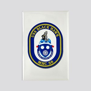 USS Black Hawk MHC 58 US Navy Ship Rectangle Magne