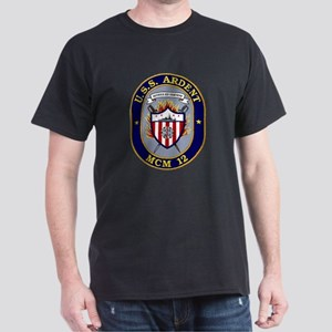 USS Ardent MCM 12 US Navy Ship Dark T-Shirt