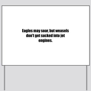 Eagles may soar, but weasels don't get sucked into