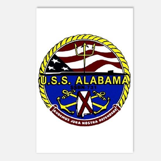 USS Alabama SSBN 731 US Navy Ship Postcards (Packa