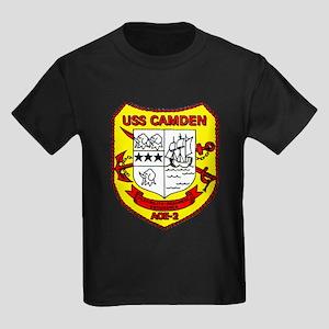 USS Camden AOE 2 US Navy Ship Kids Dark T-Shirt