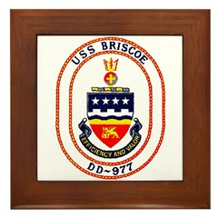 USS Briscoe DD 977 US Navy Ship Framed Tile