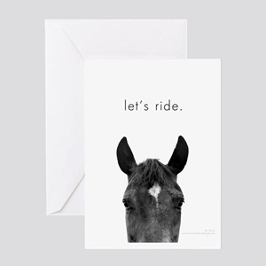Let's Ride print by Ed Wood Greeting Card