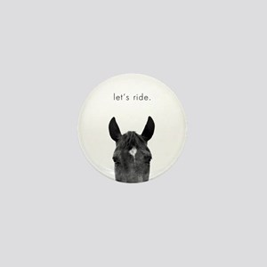 Let's Ride print by Ed Wood Mini Button (10 pack)