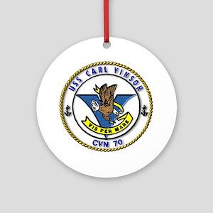 USS Carl Vinson CVN 70 US Navy Ship Ornament (Roun