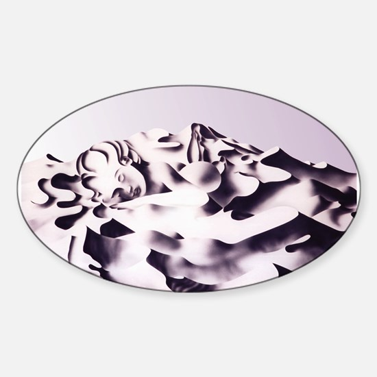 Marilyn Monroe Dreaming Oval Decal